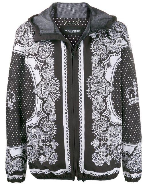 メンズ Dolce & Gabbana プリント ボンバージャケット Black