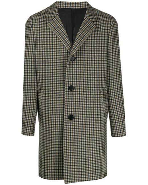 メンズ Lanvin チェック シングルコート Multicolor