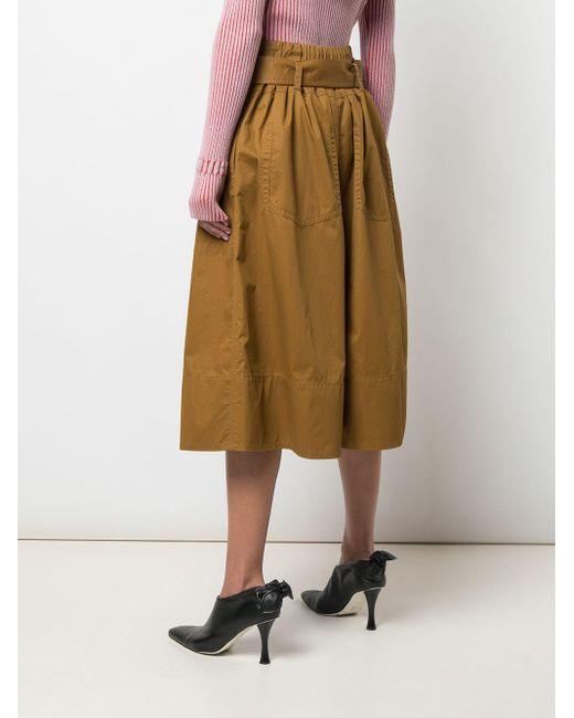 PROENZA SCHOULER WHITE LABEL ベルテッド スカート Multicolor