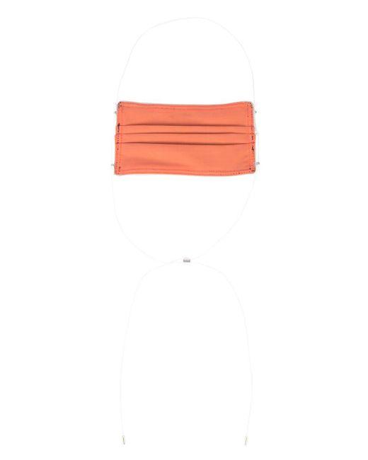 メンズ M. Cohen プリーツ フェイスマスク Orange