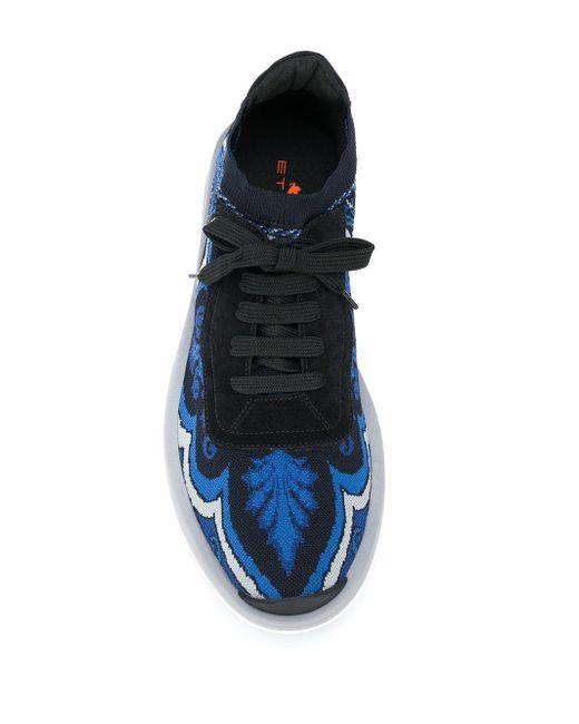 Кроссовки На Шнуровке Etro для него, цвет: Blue