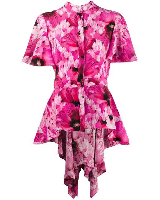 Alexander McQueen フローラル シャツ Pink