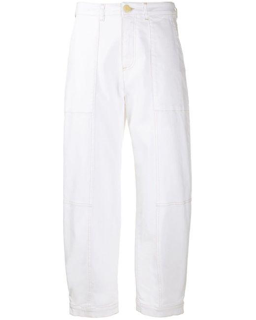 See By Chloé クロップドジーンズ White