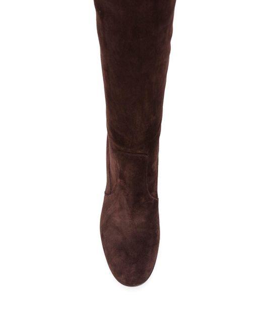 Сапоги На Каблуке Gianvito Rossi, цвет: Brown