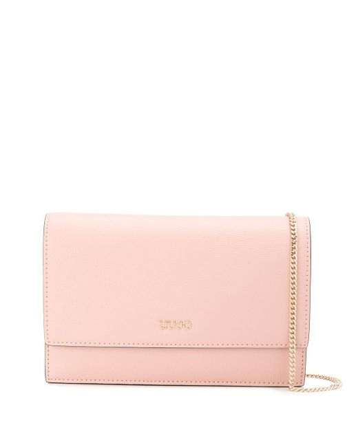Liu Jo ロゴ ショルダーバッグ Pink
