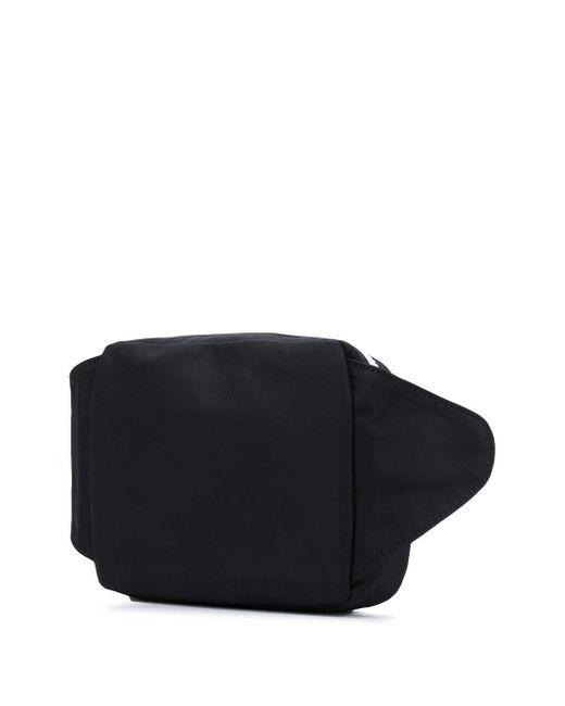 メンズ Alexander McQueen ロゴパッチ ベルトバッグ Black