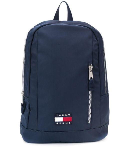 Tommy Hilfiger Blue Zip-around Logo Backpack for men
