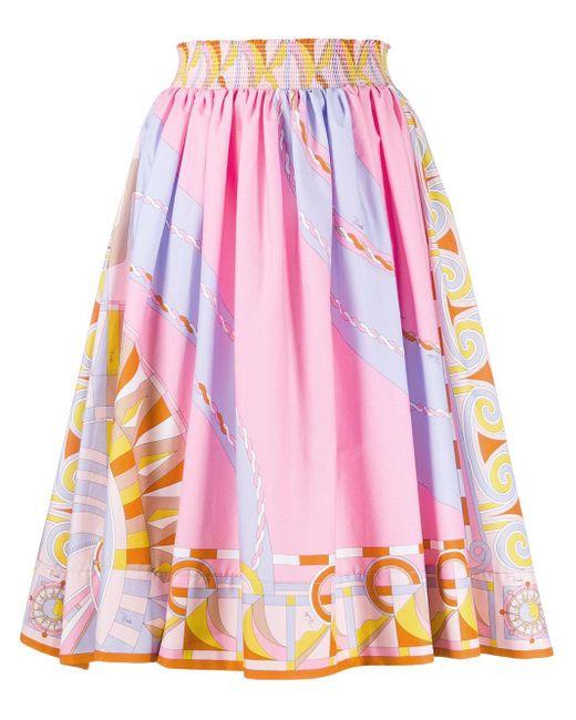 Emilio Pucci プリント プリーツスカート Pink