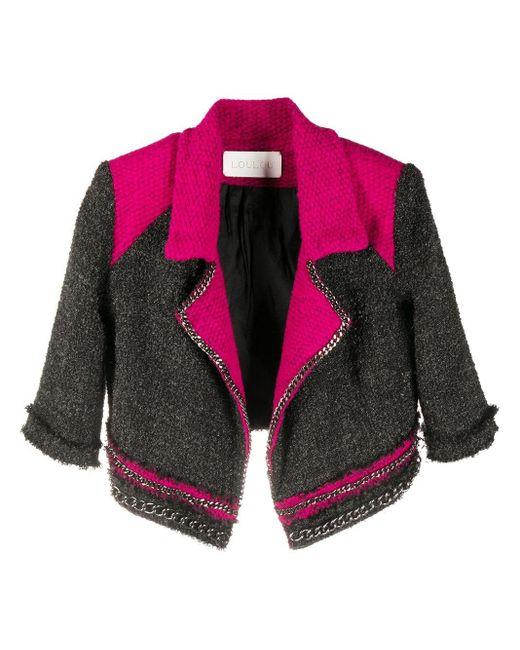 Loulou チェーントリム ジャケット Pink