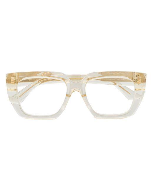 Очки В Прозрачной Квадратной Оправе Bottega Veneta, цвет: White