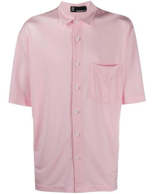Styland Pink Short Sleeved Shirt for men