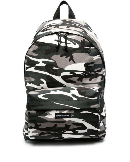 Рюкзак Explorer С Камуфляжным Принтом Balenciaga для него, цвет: Gray