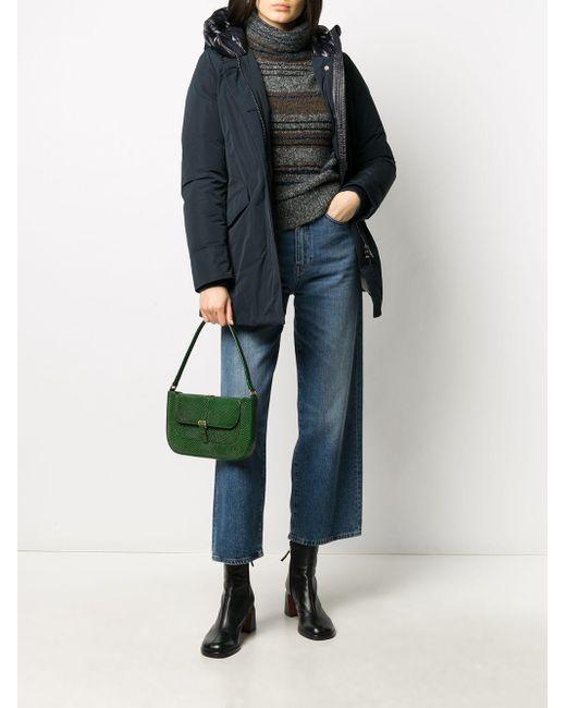 Woolrich フーデッド パデッドジャケット Blue