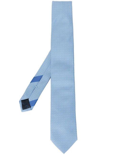 Corbata con motivo Gancini Ferragamo de hombre de color Blue