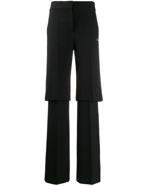 Off-White c/o Virgil Abloh Layered Tailored Trousers Black