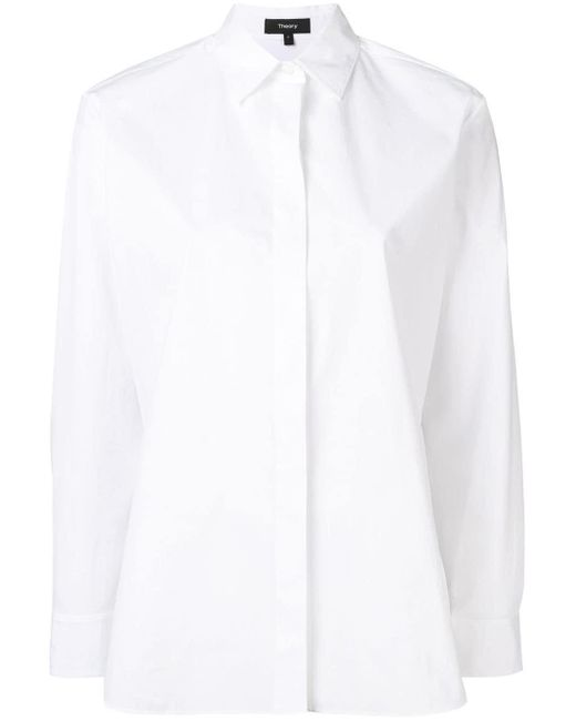 Theory オーバーサイズ シャツ White