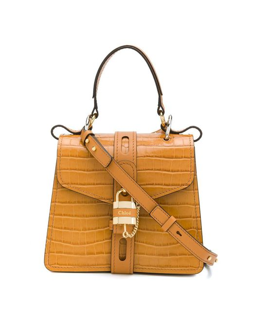 Chloé Aby ハンドバッグ Brown