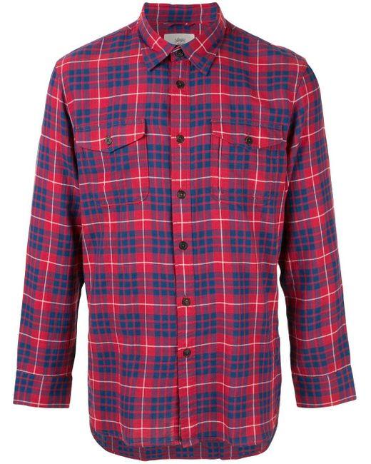 メンズ Kent & Curwen チェックシャツ Red
