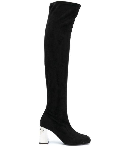 Ботфорты На Каблуке С Эффектом Металлик Giuseppe Zanotti, цвет: Black