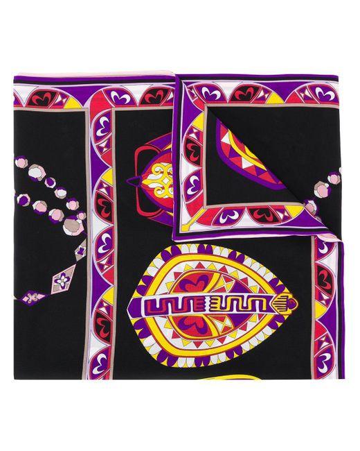 Шарф С Абстрактным Принтом Emilio Pucci, цвет: Black