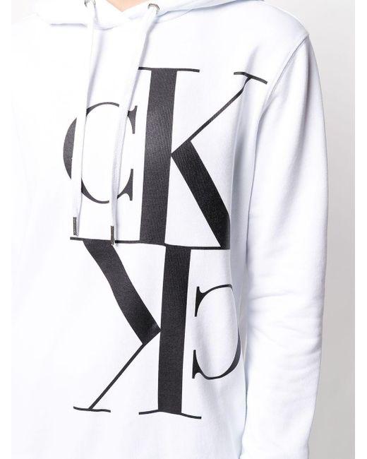 Calvin Klein ロゴ パーカー White