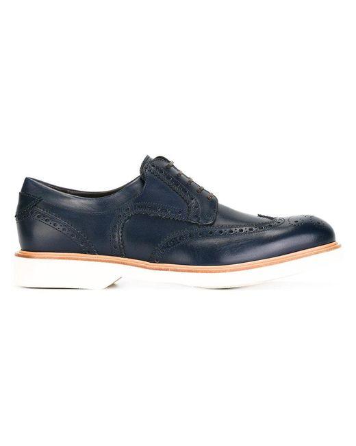 Ferragamo - Blue 'fontana' Shoes for Men - Lyst