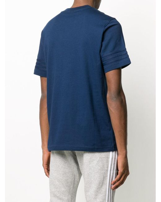 メンズ Adidas ロゴ Tシャツ Blue