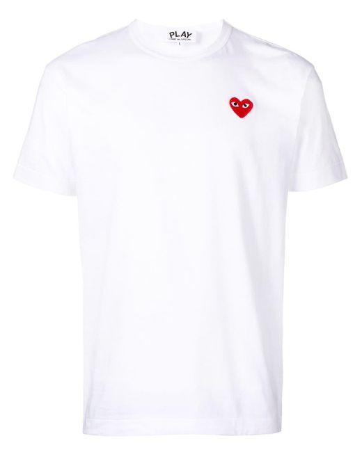 メンズ COMME DES GARÇONS PLAY Heart Logo T-shirt White