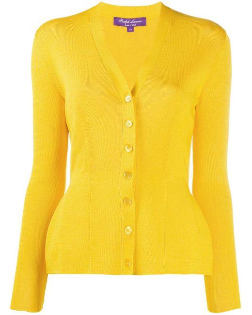Ralph Lauren Collection ニット カーディガン Yellow