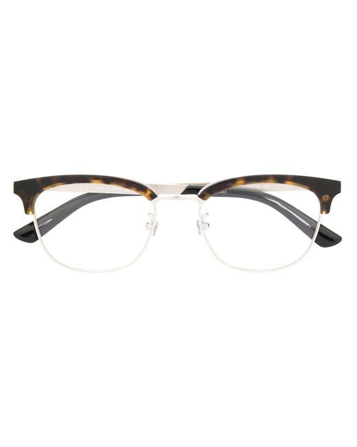 Gucci Brille mit Schildpattdetail in Brown für Herren
