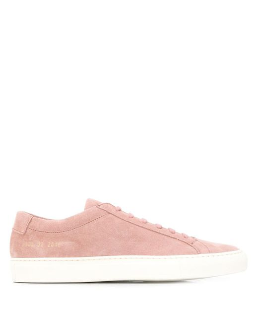 Common Projects Pink Achilles Low-top Sneakers