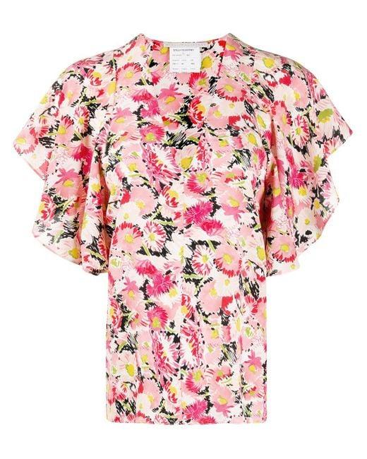 Blusa a fiori di Stella McCartney in Pink