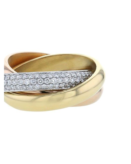 Cartier プレオウンド トリニティ ダイヤモンド リング 18kゴールド Metallic
