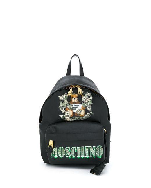 Moschino ロゴ バックパック Black