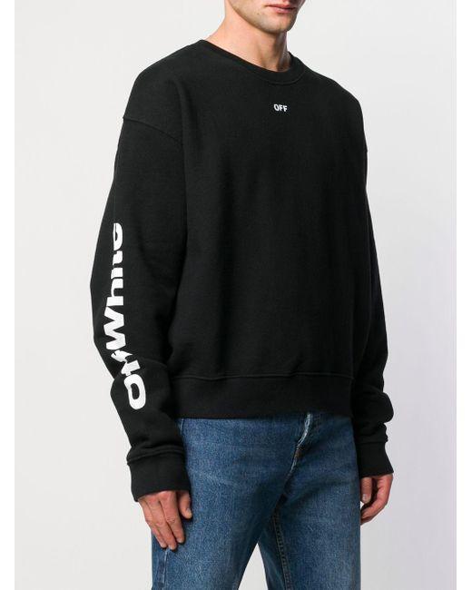 4461328f ... Off-White c/o Virgil Abloh - Black Multi Print Sweatshirt for Men ...