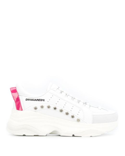 DSquared² White 'Bumpy 551' Sneakers