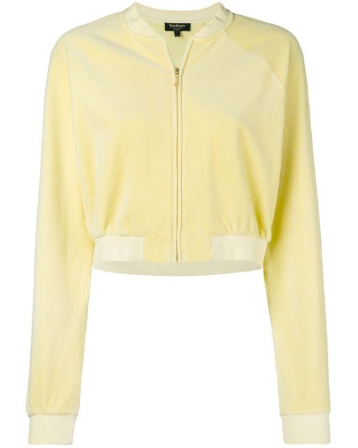 Juicy Couture Yellow Swarovski Personalisable Velour Crop Jacket