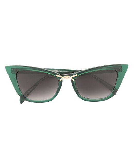 Oscar de la Renta Oversized Cat Eye Sunglasses Green