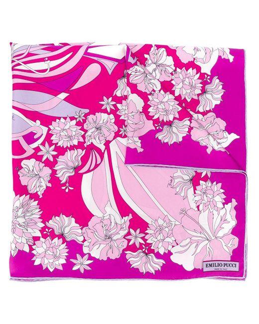 Платок С Принтом Emilio Pucci, цвет: Pink