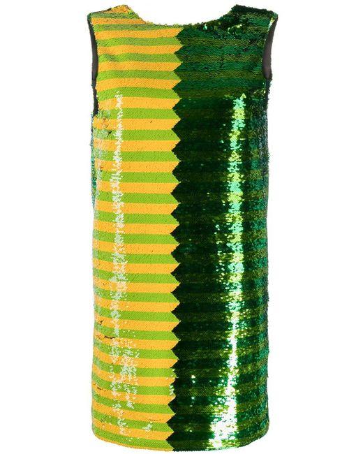 Vestito corto con paillettes di Halpern in Green