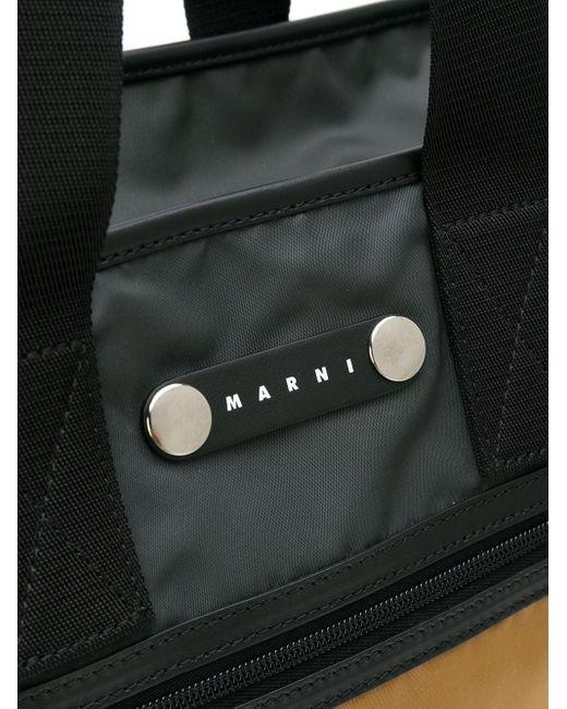 メンズ Marni Hackney カラーブロック トートバッグ Blue