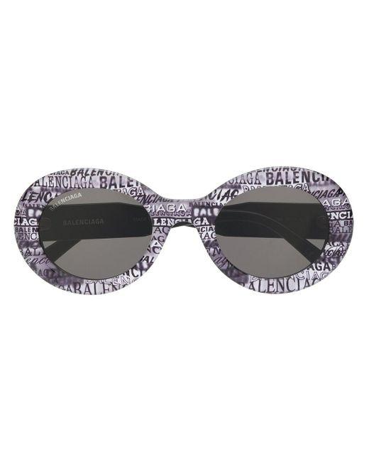 Balenciaga ラウンドフレーム サングラス Gray