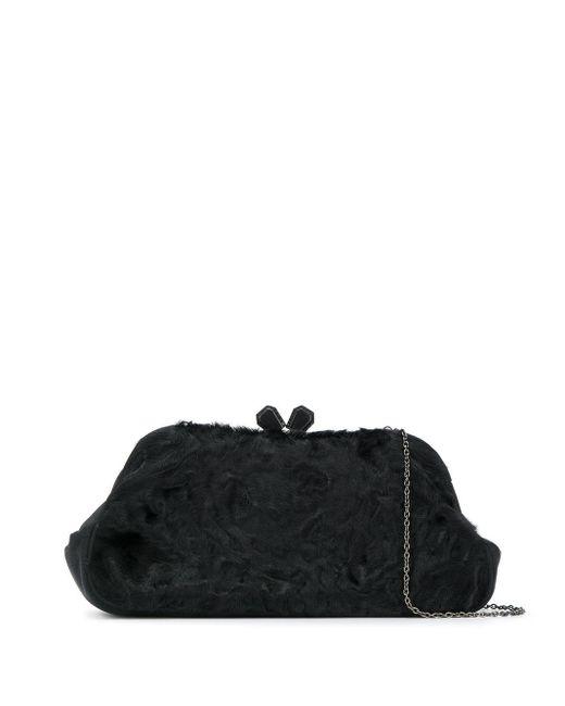Prada ロゴ クラッチバッグ Black