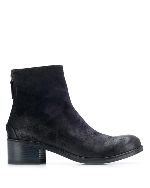 Marsèll Blue Zipped Ankle Boots
