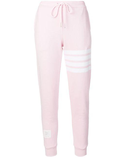 Thom Browne 4barループバック スウェットパンツ Pink