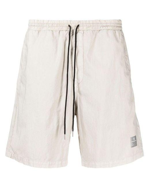 Shorts sportivi con applicazione di Department 5 in Gray da Uomo