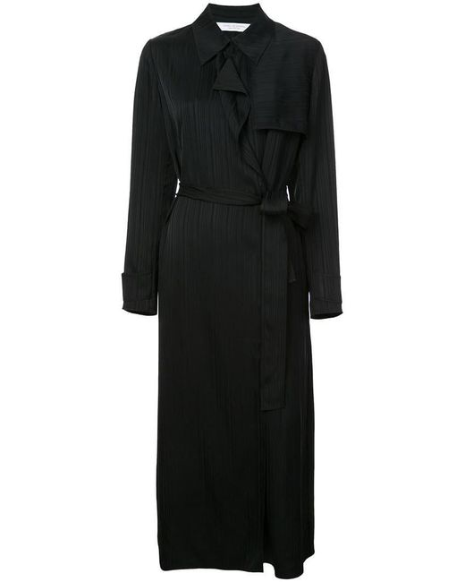 Kimora Lee Simmons - Blue Belted Silk Trench Coat - Lyst