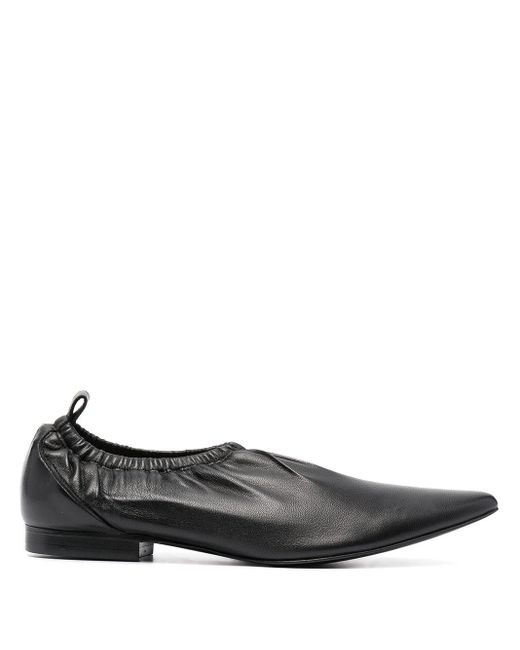 KENZO Black Wrinkle Ballerina Shoes