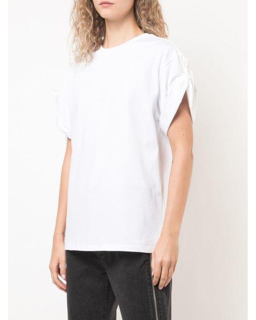 3.1 Phillip Lim スリーブタイ Tシャツ White