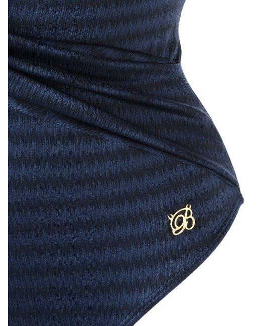 Цельный Купальник C V-образным Вырезом Brigitte Bardot, цвет: Blue